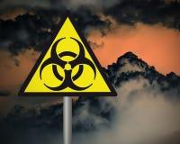 Segnale di pericolo di rischio biologico. illustrazione di stock