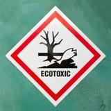 Segnale di pericolo di simbolo ecotossico di rischio Immagini Stock