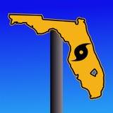 Segnale di pericolo di uragano della Florida Fotografia Stock Libera da Diritti