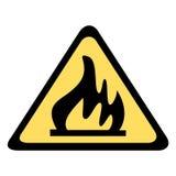 Segnale di pericolo - fuoco Immagini Stock