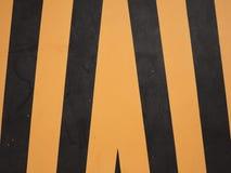 Segnale di pericolo giallo e nero Immagini Stock