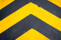Segnale di pericolo giallo e nero Immagine Stock Libera da Diritti
