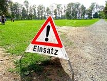 Segnale di pericolo tedesco Fotografie Stock