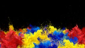 Segnale di riferimento - alfa metallina del fumo di esplosioni della polvere del gas liquido del movimento lento fluido variopint illustrazione vettoriale