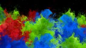 Segnale di riferimento - alfa metallina del fumo di esplosioni della polvere del gas liquido del movimento lento fluido variopint royalty illustrazione gratis