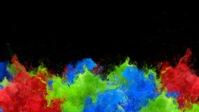 Segnale di riferimento - alfa metallina del fumo di esplosioni della polvere del gas liquido del movimento lento fluido variopint illustrazione di stock