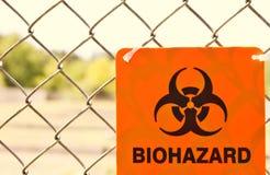 Segnale di rischio biologico. immagini stock libere da diritti