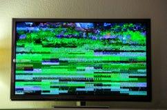 Segnale Digital Video Broadcasting del dbvt del segnale di rumore della TV cattivo Immagini Stock Libere da Diritti