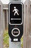Segnale elettronico della camminata Fotografie Stock Libere da Diritti