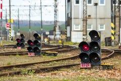 Segnale ferroviario Immagine Stock Libera da Diritti