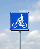 Segnale pista ciclabile - bicycle path sign Royalty Free Stock Photo