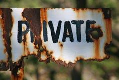 Segnale privato Fotografia Stock
