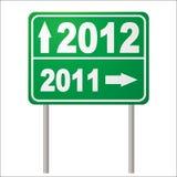 Segnale stradale 2012 illustrazione vettoriale