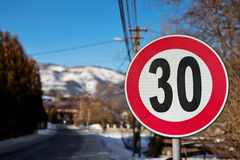 Segnale stradale Fotografie Stock