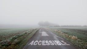 Segnale stradale ad accessibile immagini stock