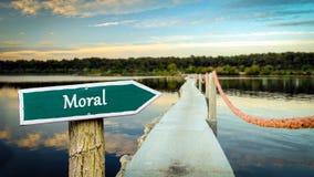 Segnale stradale alla morale fotografia stock