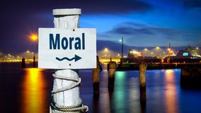 Segnale stradale alla morale fotografia stock libera da diritti