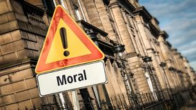Segnale stradale alla morale fotografie stock