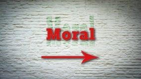 Segnale stradale alla morale immagini stock