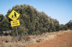 Segnale stradale, Australia Fotografie Stock Libere da Diritti