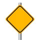 Segnale stradale in bianco Fotografie Stock Libere da Diritti