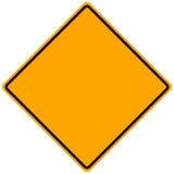 Segnale stradale in bianco Fotografia Stock Libera da Diritti