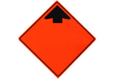 Segnale stradale in bianco Fotografie Stock