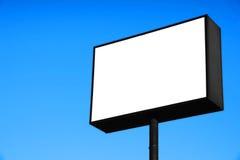 Segnale stradale in bianco bianco Fotografie Stock