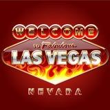 Segnale stradale bruciante di Las Vegas Fotografia Stock Libera da Diritti