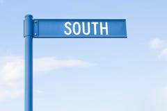 Segnale stradale con la parola del sud Fotografie Stock Libere da Diritti