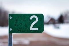 Segnale stradale congelato Immagine Stock