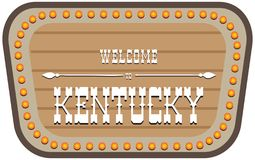 Segnale stradale d'annata Kentucky illustrazione di stock