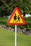 Segnale stradale d'avvertimento Fotografie Stock