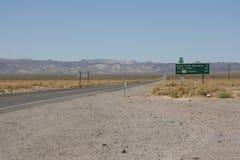 Segnale stradale da uno stato all'altro Immagine Stock Libera da Diritti