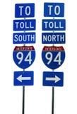 Segnale stradale da uno stato all'altro 94 Immagini Stock Libere da Diritti