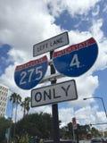 Segnale stradale da uno stato all'altro U.S.A. Immagine Stock