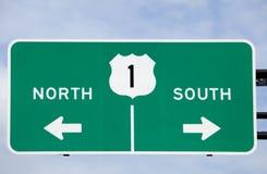 Segnale stradale degli Stati Uniti 1 Fotografie Stock