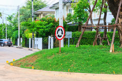 Segnale stradale del cerchio Immagine Stock Libera da Diritti