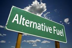 Segnale stradale del combustibile alternativo Immagini Stock Libere da Diritti