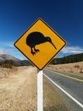 Segnale stradale del kiwi Fotografie Stock Libere da Diritti