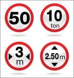 Segnale stradale del limite Fotografia Stock Libera da Diritti