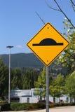 Segnale stradale del paraurti Fotografie Stock Libere da Diritti