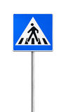 Segnale stradale del passaggio pedonale Fotografie Stock