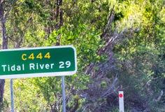 Segnale stradale del promontorio di Wilsons, Victoria - Australia Fotografie Stock Libere da Diritti