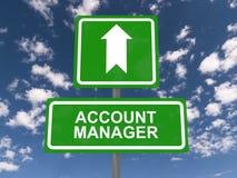 Segnale stradale dell'Account Manager Immagini Stock