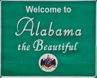 Segnale stradale dell'Alabama Immagini Stock Libere da Diritti