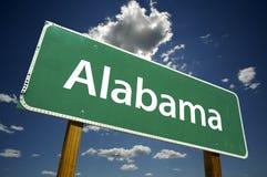 Segnale stradale dell'Alabama Fotografie Stock Libere da Diritti