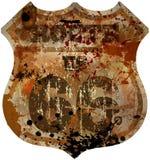 segnale stradale dell'itinerario 66 Fotografia Stock Libera da Diritti