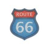 Segnale stradale dell'itinerario 66 Immagini Stock Libere da Diritti