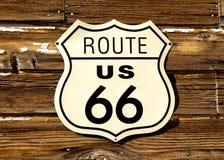 Segnale stradale dell'itinerario 66 fotografia stock